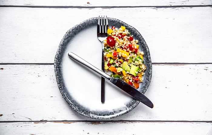 photo of food portion as a clock