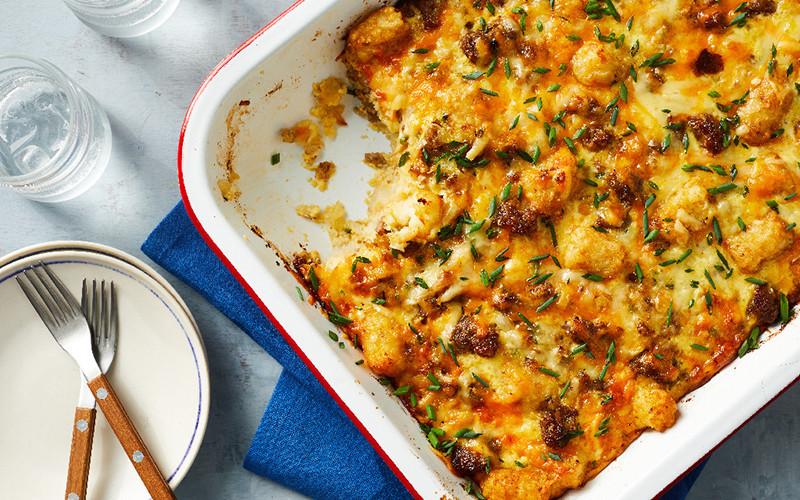 Veggie Tot Breakfast Casserole