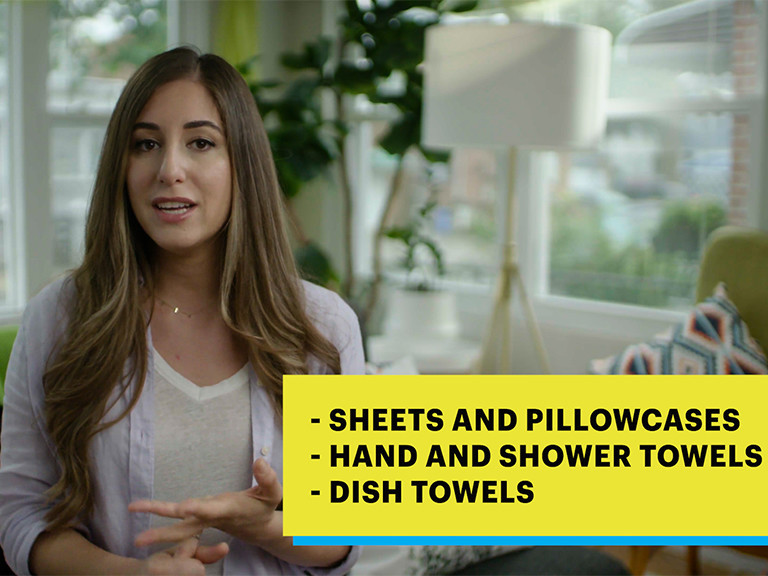 woman talking about what to wash