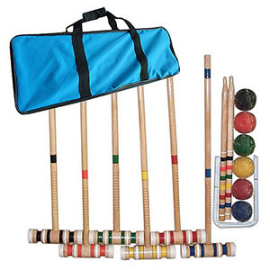 Croquet Set Fun Vintage Lawn Recreation Game by Hey! Play!