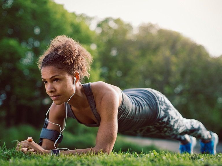 photo of woman working out