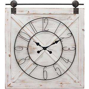 FirsTime & Co. Farmstead Barn Door Clock