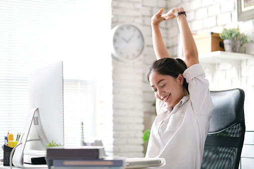 Girl At Desk Managing Energy