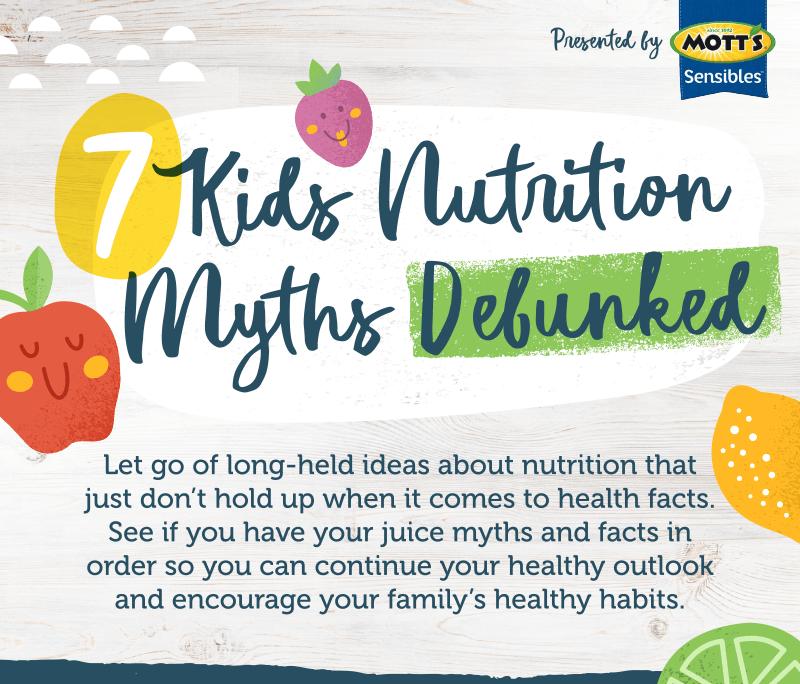 7 Kids Nutrition Myths Debunked intro