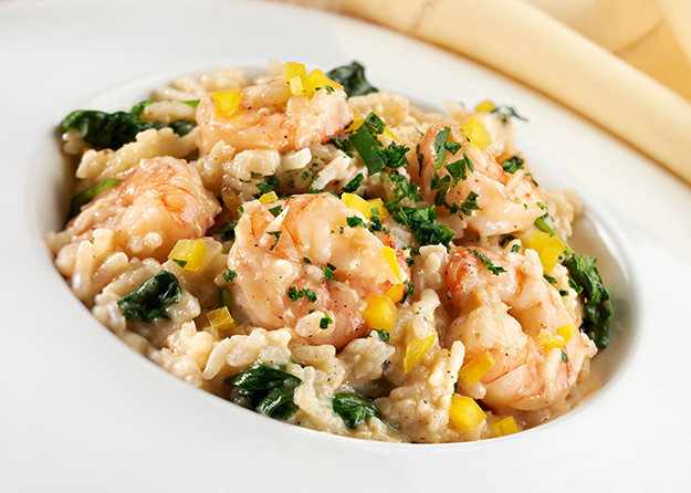risotto with shrimp corn and edamame