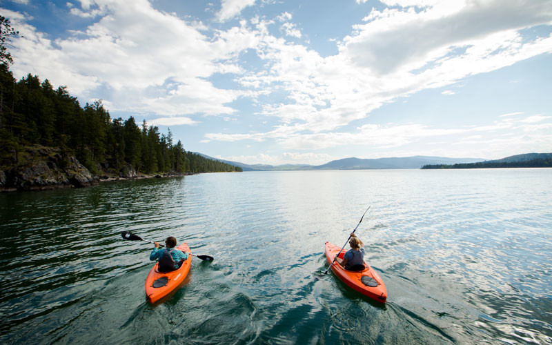 Kayaking Flathead Lake near Wild Horse Island