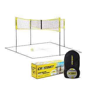 Crossnet Four Square Volleyball Net and Game Set
