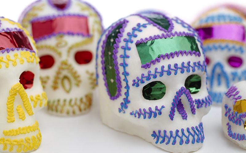 Dia de los Muertos Skull Planters