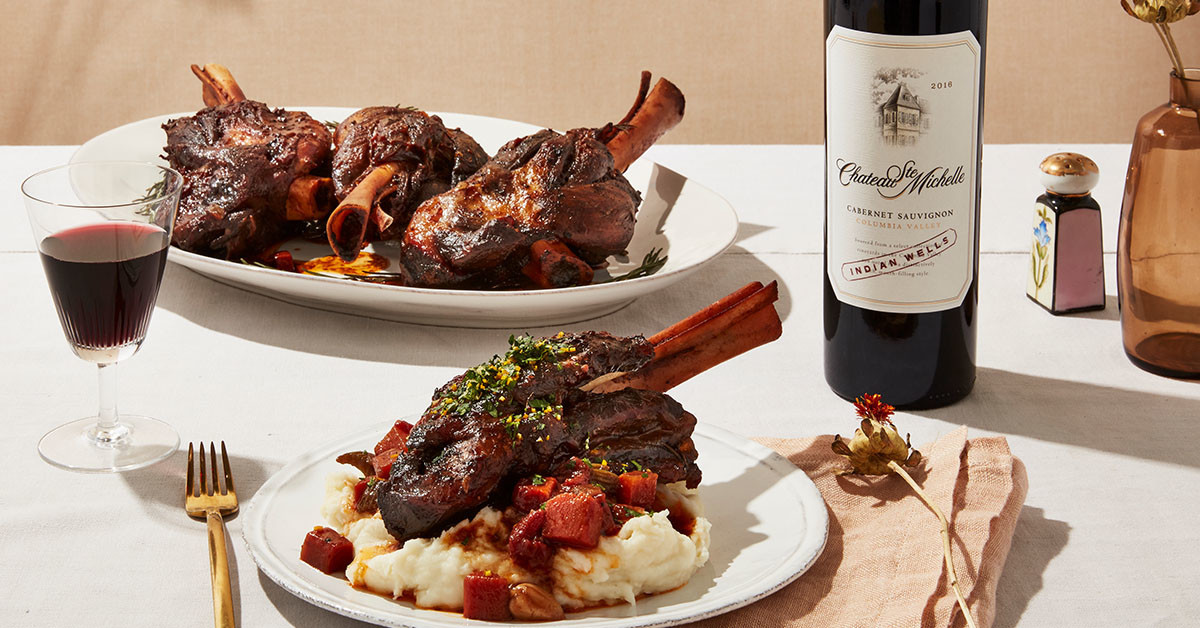 Red-Wine-Braised Lamb Shanks with Orange Gremolata