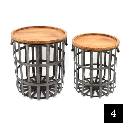 Home Decorators Collection Galvanized Metal Decorative Basket