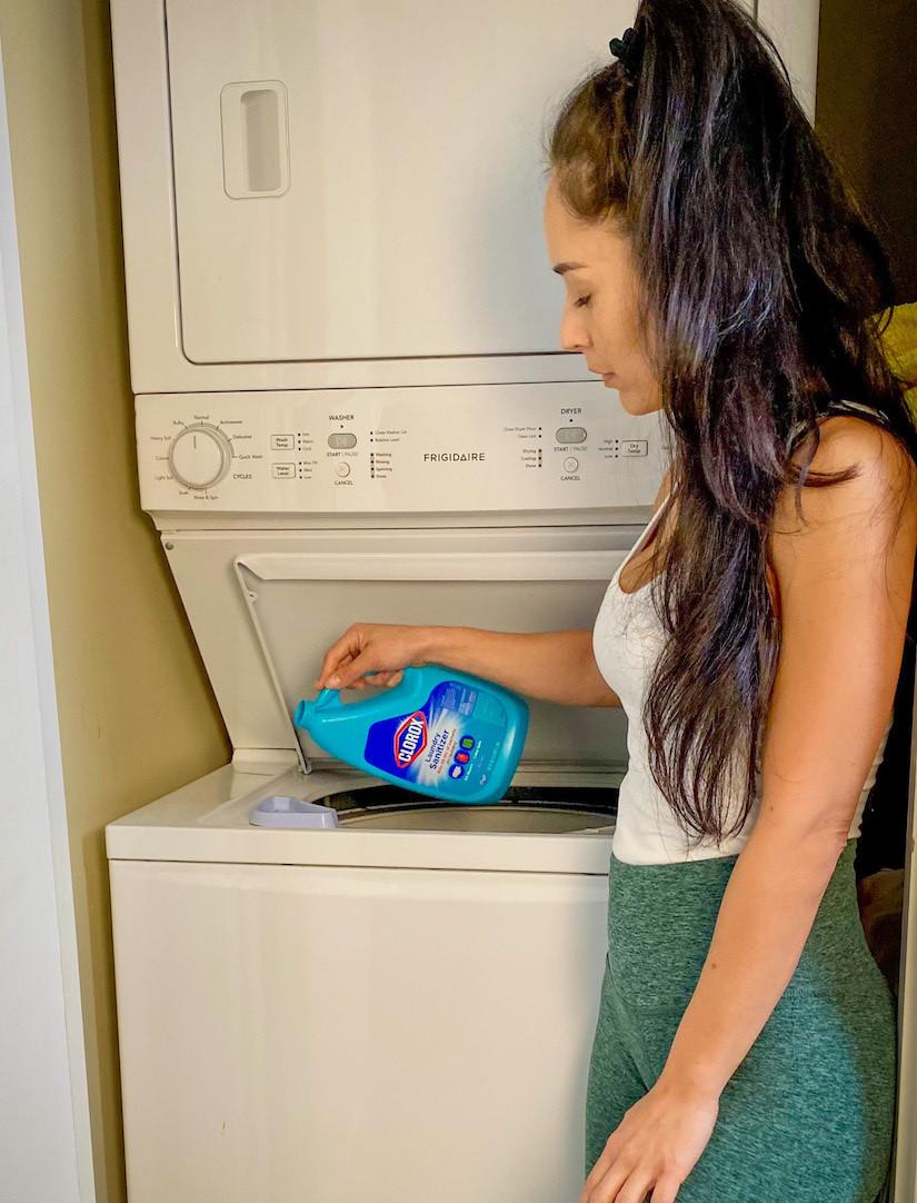 Maria doing laundry