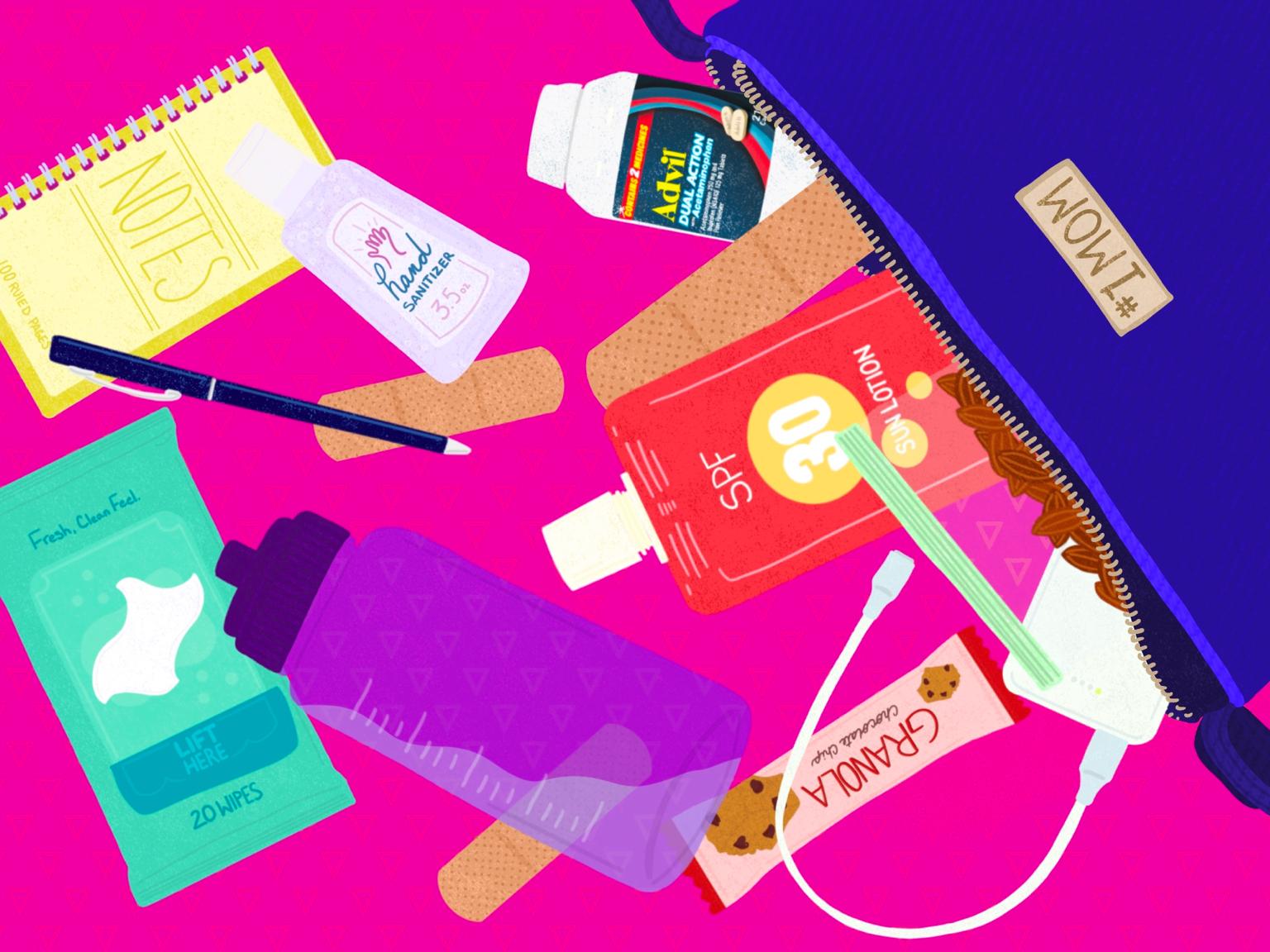 illustration of parent bag