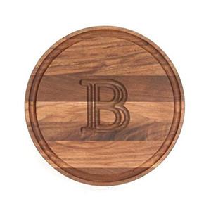 BigWood Boards Round Walnut Cheese Board
