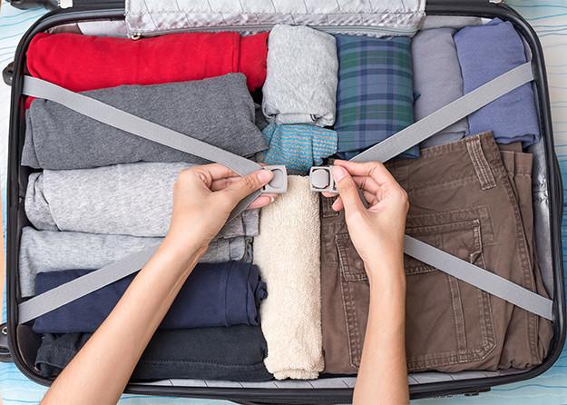 photo of inside suitcase